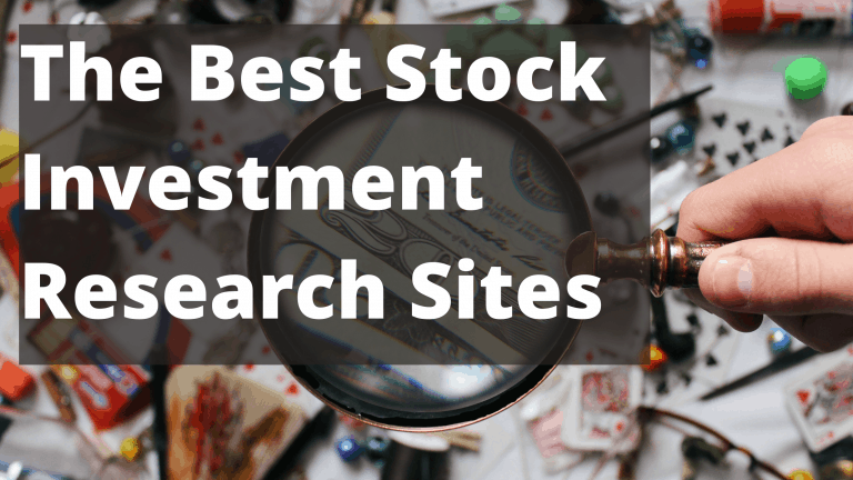 The Best Stock Investment Research Sites