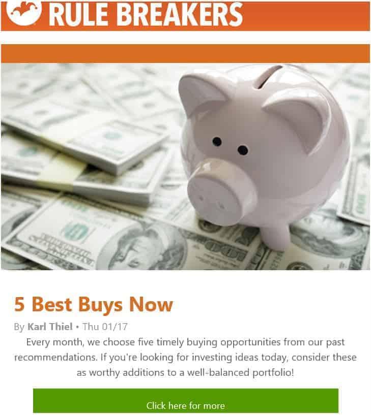 rule breakers 5 Best Stock Buys
