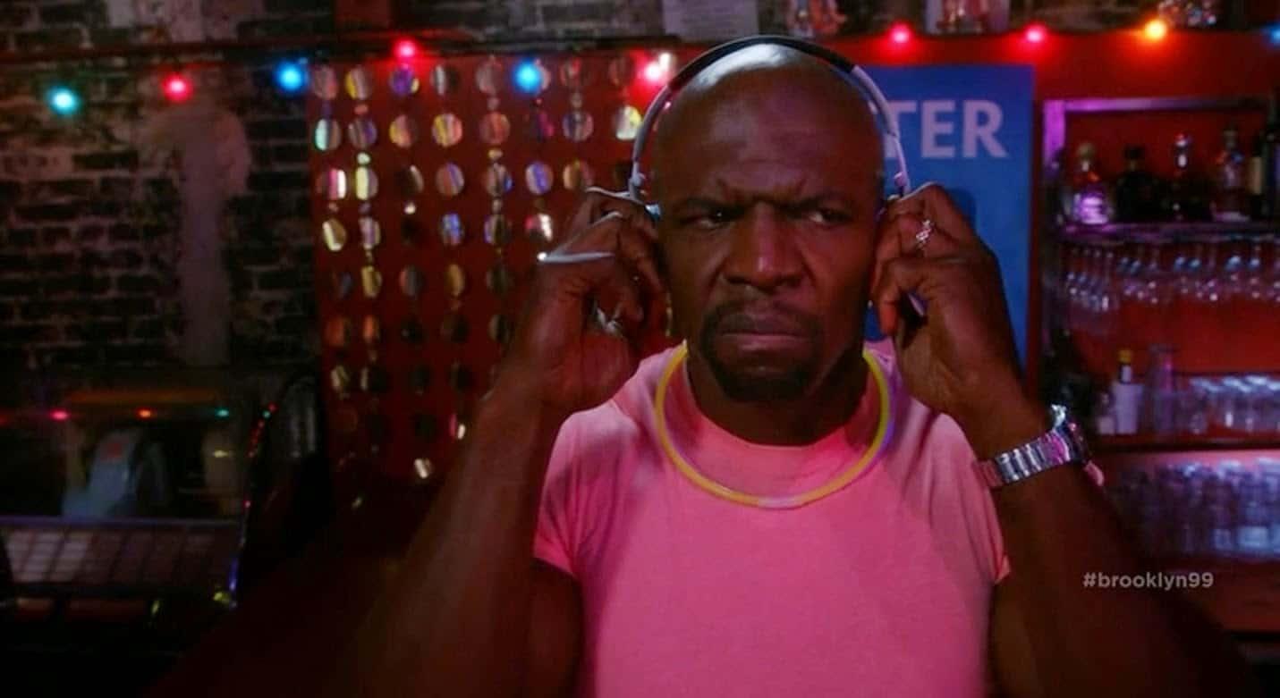 Terry Crew listening to music